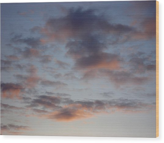 Morning Clouds Wood Print by Marilynne Bull
