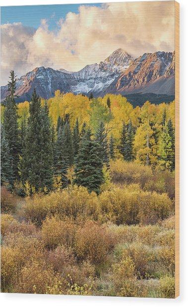 Morning Clouds, Wilson Peak Wood Print