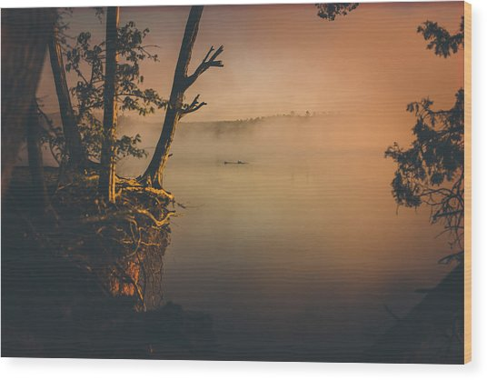Morning Colors Wood Print