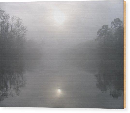 Morning Creek Wood Print