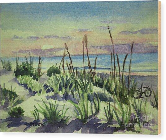 Morning Dunes  7-7-2017 Wood Print
