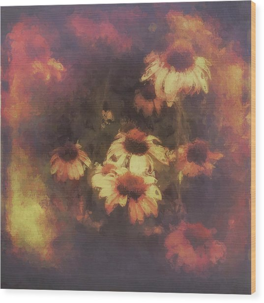 Morning Fire - Fierce Flower Beauty Wood Print