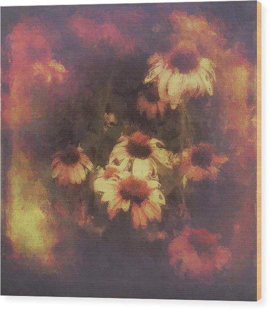 Morning Fire - Fierce Flower Beauty Wood Print
