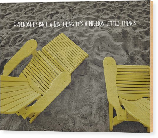 Morning Footsteps Quote Wood Print by JAMART Photography
