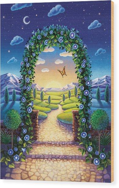 Morning Glory - Awaken To Magic Wood Print