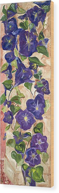 Morning Glory Wood Print by Bernadette Robertson