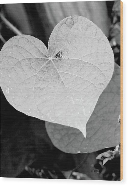 Morning Glory Heart Wood Print