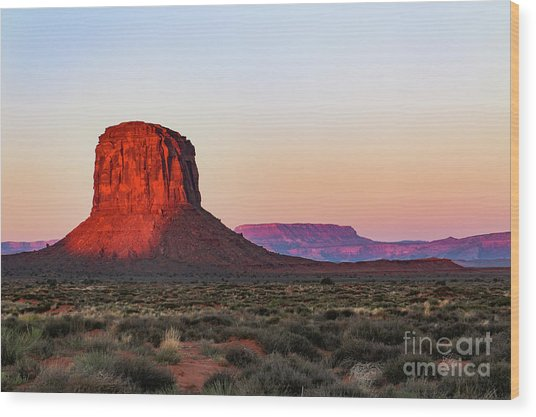 Morning Glory In Monument Valley Wood Print