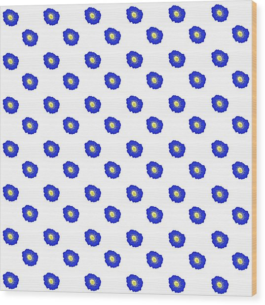 Morning Glory Pattern Wood Print