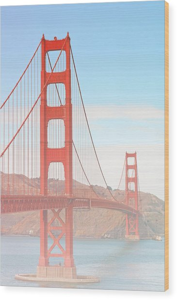 Morning Has Broken - Golden Gate Bridge San Francisco Wood Print