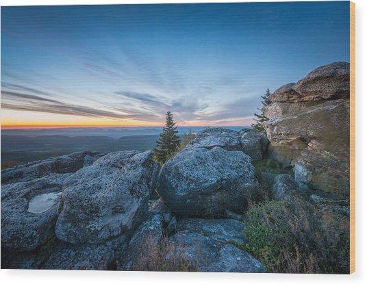 Monongahela National Forest Wilderness Morning Light Wood Print