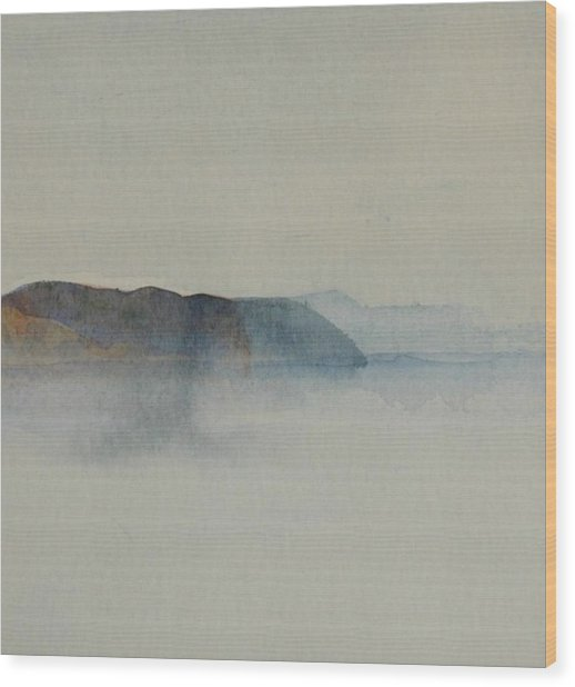 Morning Haze In The Swedish Archipelago On The Westcoast.2 Up To 28 X 28 Wood Print