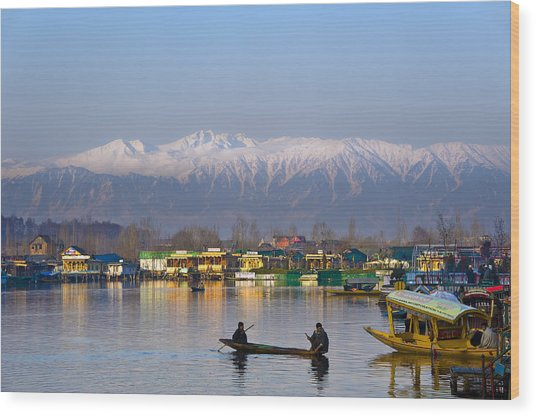 Morning In Kashmir Wood Print
