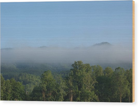Morning In The Hills Of Tennessee Wood Print by Terry Hoss