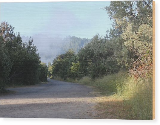 Morning Light By The Russian River Wood Print by Remegio Onia