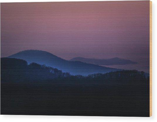 Morning Light In Shenandoah  Wood Print