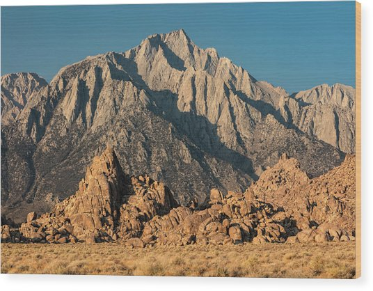 Wood Print featuring the photograph Morning Light In The Alabama Hills by Stuart Gordon