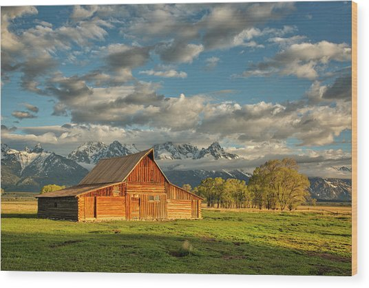 Morning Light On Moulton Barn #2 Wood Print