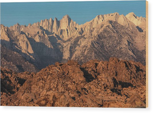 Wood Print featuring the photograph Morning Light On Mt. Whitney by Stuart Gordon