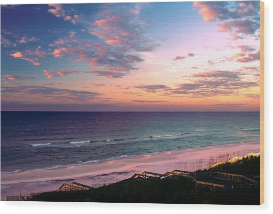 Morning Light On Rosemary Beach Wood Print