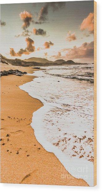 Morning Marine Wash Wood Print