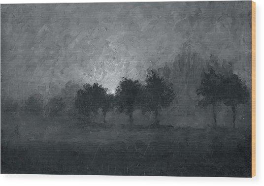 Morning Mist 3 Wood Print