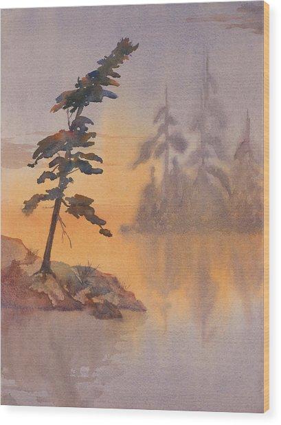 Morning Mist Wood Print by Debbie Homewood