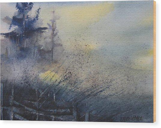 Morning Mist Wood Print by Debra LePage