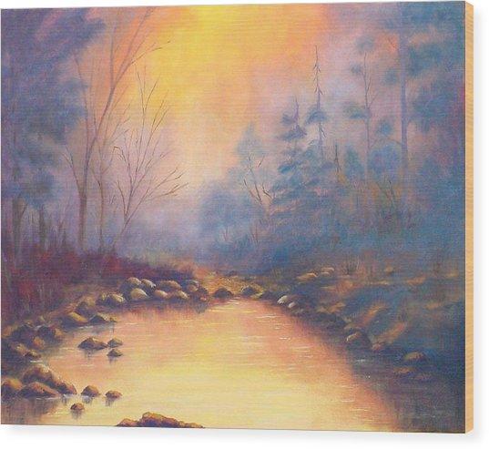 Morning Mist Wood Print by Merle Blair