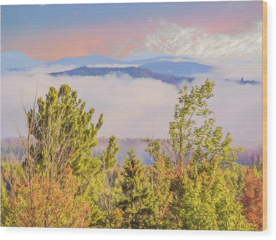 Morning Mountain View Northern New Hampshire. Wood Print