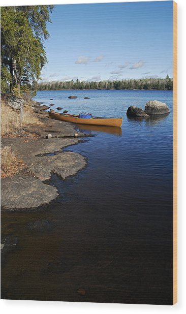 Morning On Hope Lake Wood Print