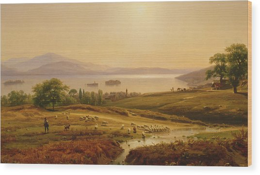 Morning On Lake Maggiore Wood Print