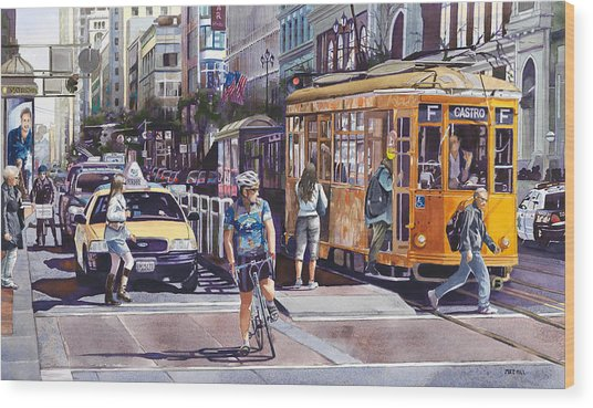 Morning On Market Street Wood Print by Mike Hill