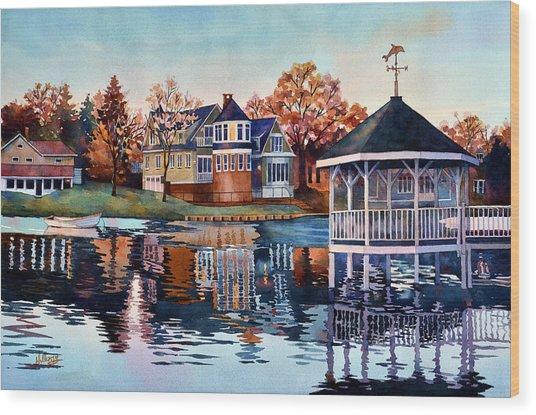 Morning On Silver Lake Wood Print