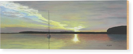 Morning On The Bay Wood Print