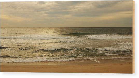 Morning On The Beach - Jersey Shore Wood Print