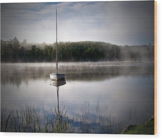 Morning On White Sand Lake Wood Print