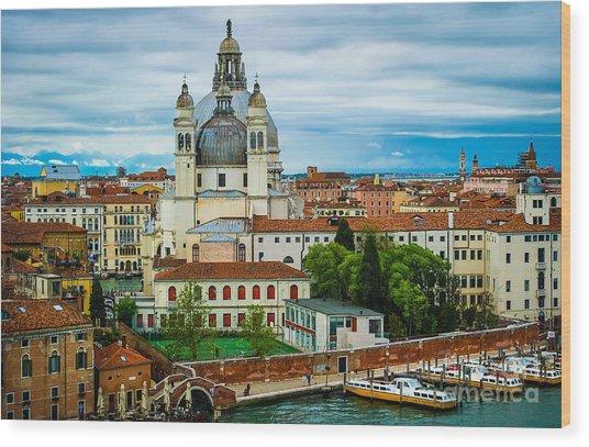 Morning Over Venice Wood Print by Ken Andersen