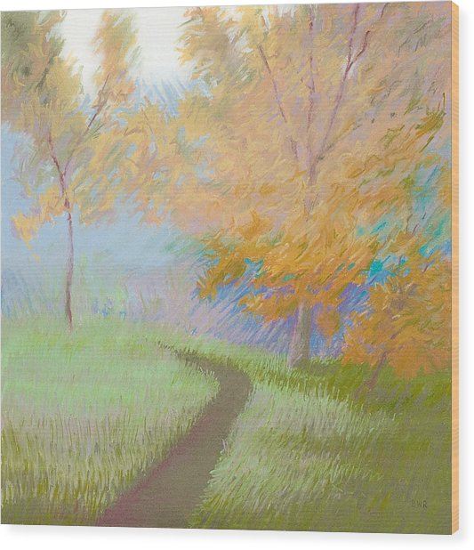 Morning Path 2 Wood Print by Bruce Richardson
