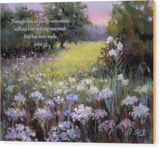 Morning Praises With Bible Verse Wood Print