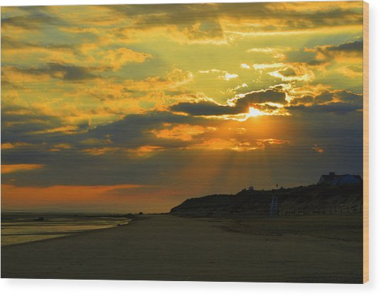 Morning Rays Over Cape Cod Wood Print
