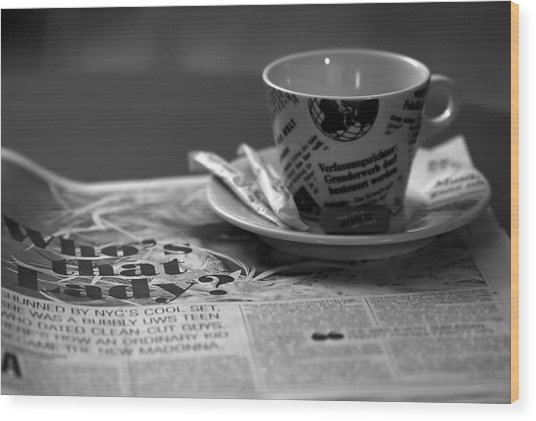 Morning Read Wood Print