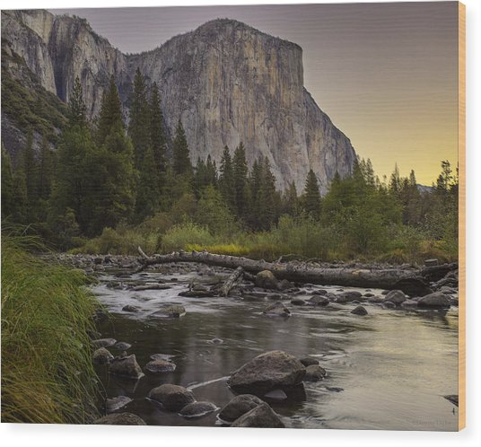 Morning Salutes El Capitan Wood Print
