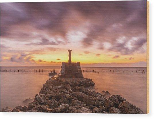 Morning Scene In Nusa Penida Beach Wood Print