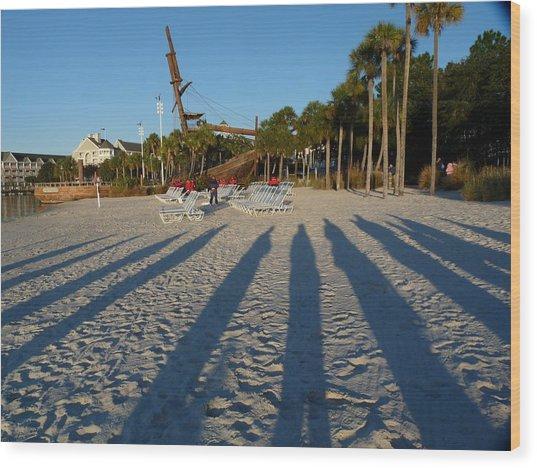 Morning Shadows Wood Print