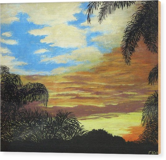 Morning Sky Wood Print by Frederic Kohli