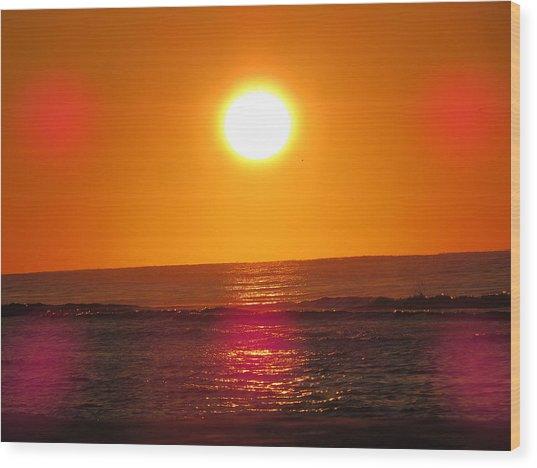 Morning Sun Break Wood Print