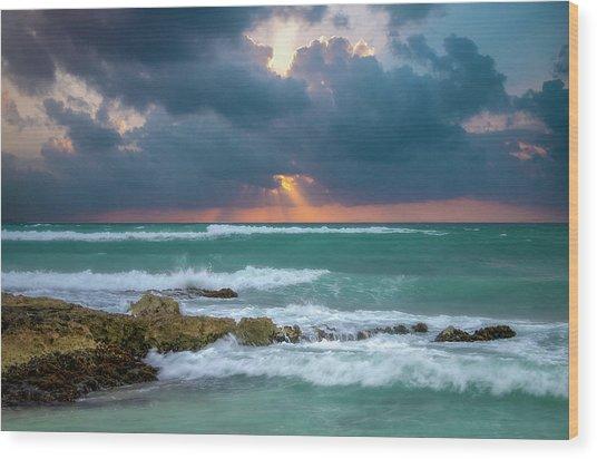 Morning Surf Wood Print