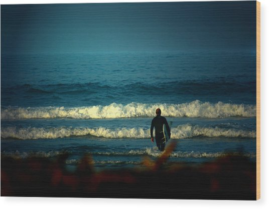Morning Surf Wood Print