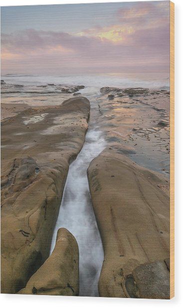 Morning Tide Wood Print by Joseph Smith